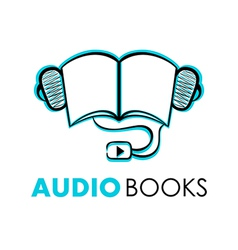 Audio books vector image