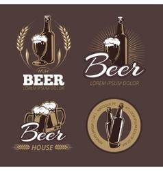Color beer labels set vector image