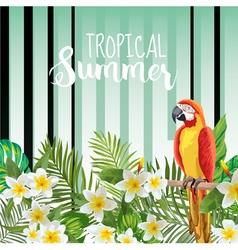 Parrot bird background retro pattern tropical vector