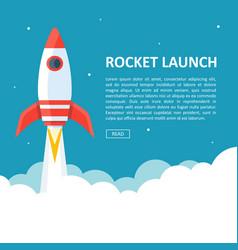 Rocket launch copyspace vector
