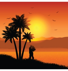 Romantic Sunset vector image vector image