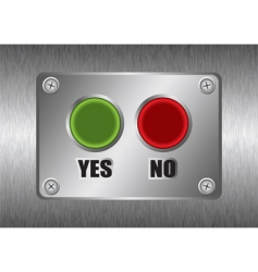 yes no metal button vector image vector image