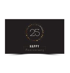 25 years happy anniversary card vector