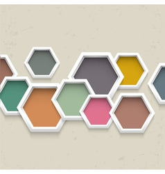 3d geometric background vector