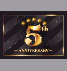 5 years anniversary celebration logo 5th vector image