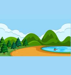 A simple nature scene vector