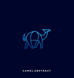 abstract camel template vector image