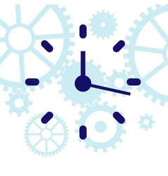 abstract clock vector image