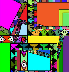 Abstract colored frames vector
