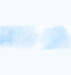 Abstract watercolor sky and clouds for background vector