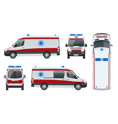 Ambulance car an emergency medical service vector