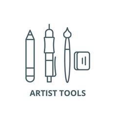 artist tools line icon artist tools vector image