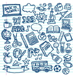 Back to School Freehand Doodles vector