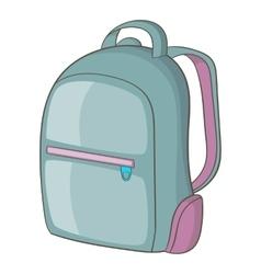 Backpack icon cartoon style vector