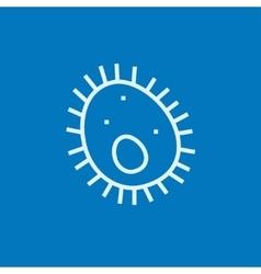 Bacteria line icon vector image