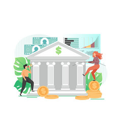 Banking services flat style design vector