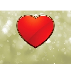 Beautiful valentine bokeh with red heart EPS 8 vector image