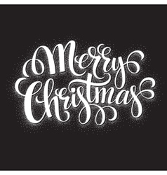 Black and White Christmas Card Merry Christmas vector