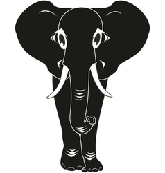 black elephant isolated vector image