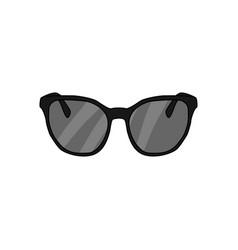 black sunglasses fashion style item vector image