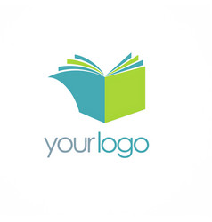Book knowledge logo vector