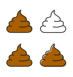 brown shit sticker on a white background vector image