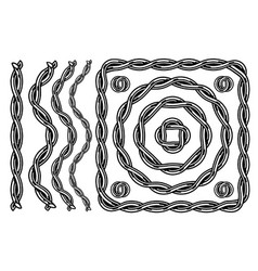 chain pattern brush template vector image