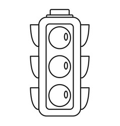 city traffic lights icon outline style vector image
