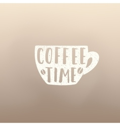 Coffe time cup vector image