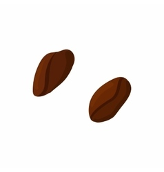 Coffee beans icon cartoon style vector