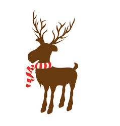 Color background of reindeer with big horns and vector