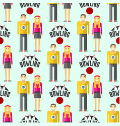 colorful bowling seamless pattern vector image