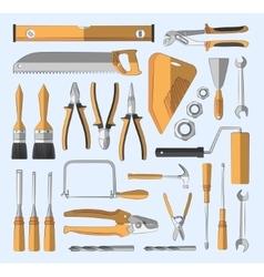 Construction tools set vector image