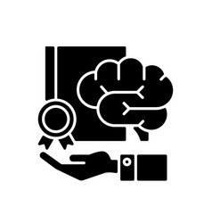 Corporate intellectual property black glyph icon vector