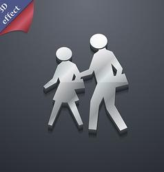 crosswalk icon symbol 3D style Trendy modern vector image