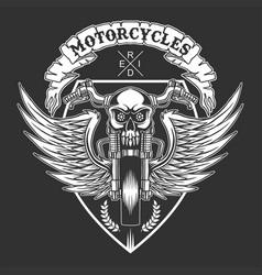 custom motorcycles badge vector image