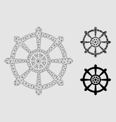 Dharma wheel mesh 2d model and triangle vector
