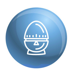 Egg timer icon outline style vector