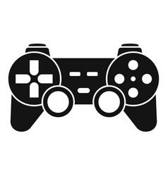 ergonomic joystick icon simple style vector image