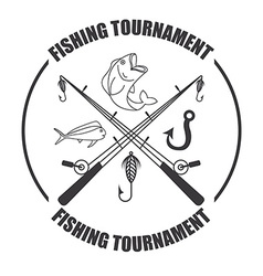 fishing tournament vector image