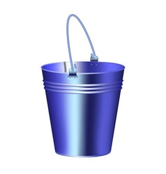 Galvanized iron new bucket isolated vector