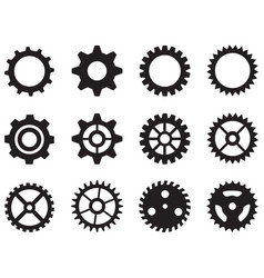 Gear wheels icon on white background flat style vector