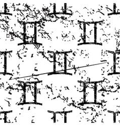 Gemini pattern grunge monochrome vector image