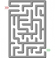 gray labyrinth vector image