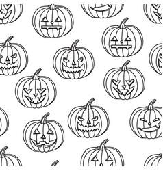 halloween seamless background pumpkin vector image