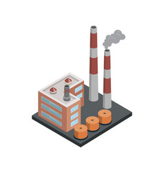 Heavy industry architecture isometric 3d element vector