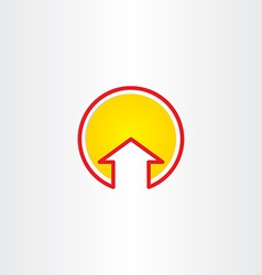 House or arrow up symbol vector