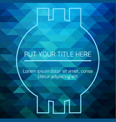 Hypnotic blue futuristic template vector