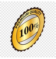 Label premium quality isometric icon vector