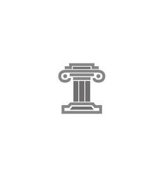 law building justice logo vector image